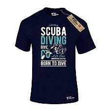 T-SHIRT ΑΝΔΡΙΚΟ, TAKEPOSITION, SCUBA DIVING, ΜΠΛΕ NAVY, 307-2001