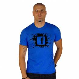 T-SHIRT ΑΝΔΡΙΚΟ, TAKEPOSITION, SPLASH FB, ΜΠΛΕ, 307-4500