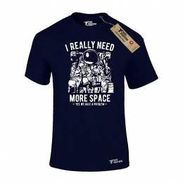 T-SHIRT ΑΝΔΡΙΚΟ, TAKEPOSITION, MORE SPACE, ΜΠΛΕ NAVY, 307-4503