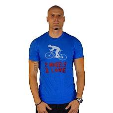 T-SHIRT ΑΝΔΡΙΚΟ, TAKEPOSITION, BIKE LOVE, ΜΠΛΕ, 307-5501
