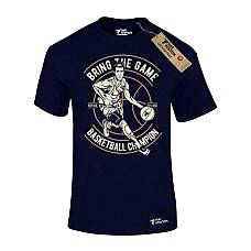 T-SHIRT ΑΝΔΡΙΚΟ, TAKEPOSITION, BRING THE GAME, ΜΠΛΕ NAVY, 307-5509