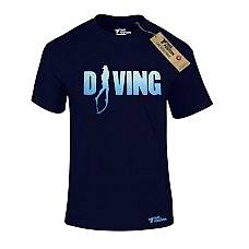 T-SHIRT ΑΝΔΡΙΚΟ, TAKEPOSITION, DIVING, ΜΠΛΕ NAVY, 307-5520