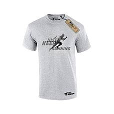 T-SHIRT ΑΝΔΡΙΚΟ, TAKEPOSITION, KEEP RUNNING, ΓΚΡΙ, 307-5522