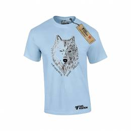 T-SHIRT ΑΝΔΡΙΚΟ, TAKEPOSITION, INFREQUENT WOLF, ΓΑΛΑΖΙΟ, 307-6003