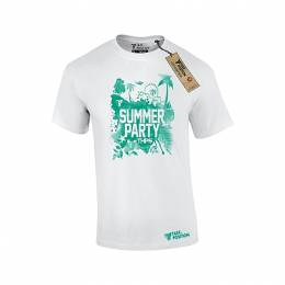 T-SHIRT ΑΝΔΡΙΚΟ, TAKEPOSITION, SUMMER PARTY, ΛΕΥΚΟ, 307-6501