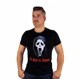 T-SHIRT ΑΝΔΡΙΚΟ, TAKEPOSITION, ITS TIME TO SCREAM, ΜΑΥΡΟ, 307-8002