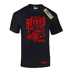 T-SHIRT ΑΝΔΡΙΚΟ, TAKEPOSITION, HOTROD, ΜΑΥΡΟ, 307-9006