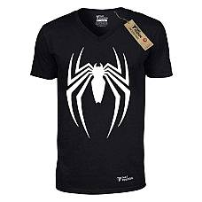 T-SHIRT V NECK ΑΝΔΡΙΚΟ, TAKEPOSITION, SPIDER ATTACK, 308-1003