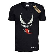 T-SHIRT V NECK ΑΝΔΡΙΚΟ, TAKEPOSITION, BLACK SPIDER, ΜΑΥΡΟ, 308-1004