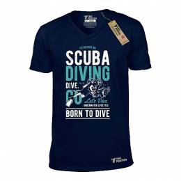 T-SHIRT V NECK ΑΝΔΡΙΚΟ, TAKEPOSITION, SCUBA DIVING, ΜΠΛΕ NAVY, 308-2001