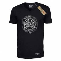 T-SHIRT V NECK ΑΝΔΡΙΚΟ, TAKEPOSITION, SKATEBOARD REBEL, ΜΑΥΡΟ, 308-2002