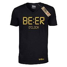 T-SHIRT V NECK ΑΝΔΡΙΚΟ, TAKEPOSITION, BEER O-CLOCK, ΜΑΥΡΟ, 308-4004