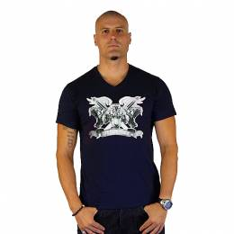 T-SHIRT V NECK ΑΝΔΡΙΚΟ, TAKEPOSITION, THREE TIGERS, ΜΠΛΕ NAVY, 308-6001