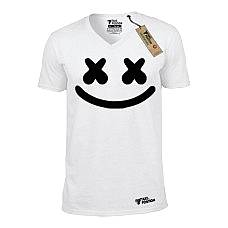 T-SHIRT V NECK ΑΝΔΡΙΚΟ, TAKEPOSITION, MARSHMELLO, ΛΕΥΚΟ, 308-7517
