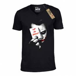 T-SHIRT V NECK ΑΝΔΡΙΚΟ, TAKEPOSITION, SO SERIOUS, ΜΑΥΡΟ, 308-8502
