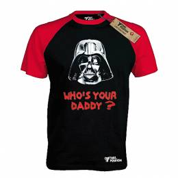 T-SHIRT REGLAN ΑΝΔΡΙΚΟ, TAKEPOSITION, WHO S YOUR DADDY, ΜΑΥΡΟ/ΚΟΚΚΙΝΟ, 321-7007