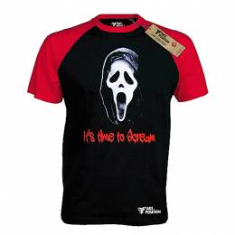 T-SHIRT REGLAN ΑΝΔΡΙΚΟ, TAKEPOSITION, ITS TIME TO SCREAM, ΜΑΥΡΟ/ΚΟΚΚΙΝΟ, 321-8002