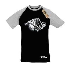 T-SHIRT REGLAN ΑΝΔΡΙΚΟ, TAKEPOSITION, WHITE TIGER, ΜΑΥΡΟ/ΓΚΡΙ, 322-6000