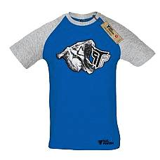 T-SHIRT REGLAN ΑΝΔΡΙΚΟ, TAKEPOSITION, WHITE TIGER, ΜΠΛΕ/ΓΚΡΙ, 323-6000