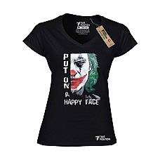 T-SHIRT V NECK ΓΥΝΑΙΚΕΙΟ, TAKEPOSITION, JOKER, ΜΑΥΡΟ, 502-8507