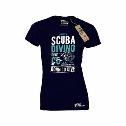 T-SHIRT ΓΥΝΑΙΚΕΙΟ, TAKEPOSITION, SCUBA DIVING, ΜΠΛΕ NAVY, 504-2001