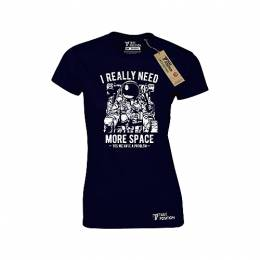 T-SHIRT ΓΥΝΑΙΚΕΙΟ, TAKEPOSITION, MORE SPACE, ΜΠΛΕ NAVY, 504-4503