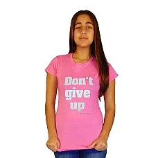 T-SHIRT ΓΥΝΑΙΚΕΙΟ, TAKEPOSITION, DONT GIVE UP, ΡΟΖ, 504-5003