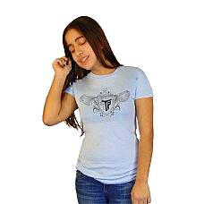 T-SHIRT ΠΑΙΔΙΚΟ, TAKEPOSITION, LOGO SILVER WINGS, ΣΙΕΛ, 801-0001