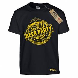 T-SHIRT ΠΑΙΔΙΚΟ, TAKEPOSITION, BEER PARTY, ΜΑΥΡΟ, 801-4005