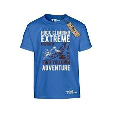 T-SHIRT ΠΑΙΔΙΚΟ, TAKEPOSITION, ROCK CLIMBING, ΜΠΛΕ, 801-5510