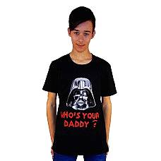 T-SHIRT ΠΑΙΔΙΚΟ, TAKEPOSITION, WHO'S YOUR DADDY, ΜΑΥΡΟ, 801-7007
