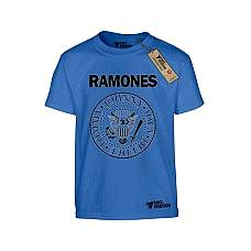 T-SHIRT ΠΑΙΔΙΚΟ, TAKEPOSITION, RAMONES, ΜΠΛΕ, 801-7504