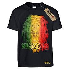 T-SHIRT ΠΑΙΔΙΚΟ, TAKEPOSITION, RASTAFARI LION, ΜΑΥΡΟ, 801-7514
