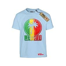 T-SHIRT ΠΑΙΔΙΚΟ, TAKEPOSITION, REGGAE TROPIC, ΓΑΛΑΖΙΟ, 801-7515