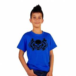 T-SHIRT ΠΑΙΔΙΚΟ, TAKEPOSITION, SKULL AND BONES, ΜΠΛΕ, 801-8001