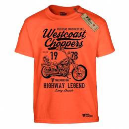 T-SHIRT ΠΑΙΔΙΚΟ, TAKEPOSITION, WESTCOAST CHOPPERS, ΠΟΡΤΟΚΑΛΙ, 801-9005